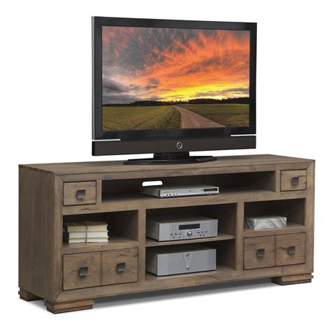 mesa 74 quot tv stand distressed pine value city furniture