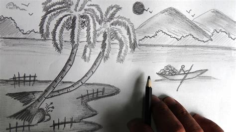 doodle drawing for beginners easy scenery drawing easy landscape drawing for