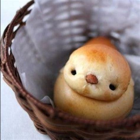 chick shaped bread too cute to eat shaped bread