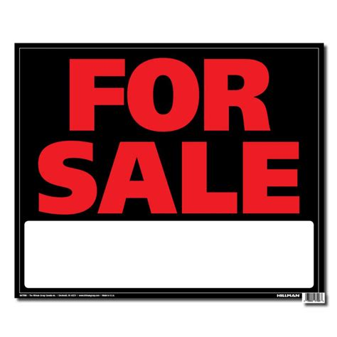 hillman 19 x 24 jumbo sign for sale the home depot canada