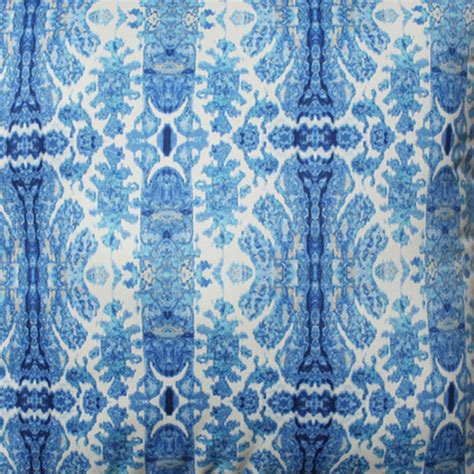 blue floral upholstery fabric rue sapphire blue floral stripe cotton drapery fabric by