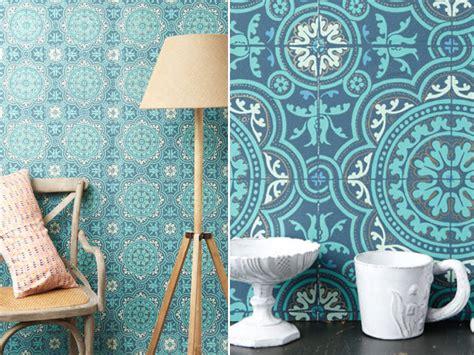 Tapisserie Murale Orientale by Papiers Peints Imitation Carrelage Pour Un Salon Qui