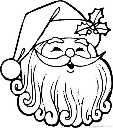 printable coloring pages of santa claus santa claus face coloring pages az coloring pages