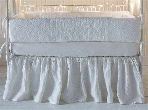 Baby Crib Skirt by Linen Baby Crib Skirt By Notte