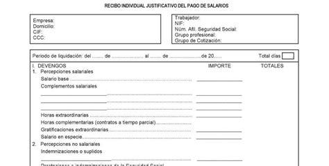 plantilla de nomina para rellenar plantilla de recibo para rellenar 191 qu 233 conceptos
