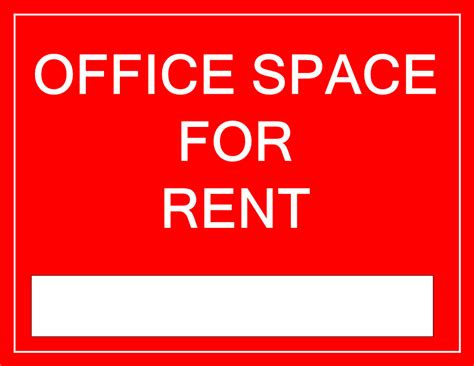 Free Printable office space for rent sign template