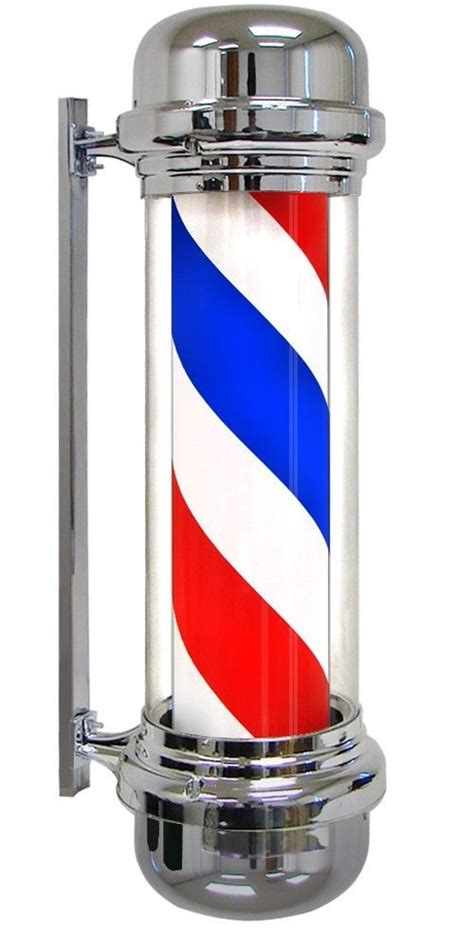 Telephone Sahitel S 52 Whitebluered 27 quot barber pole led light white blue stripes rotating metal hair salon shop ebay
