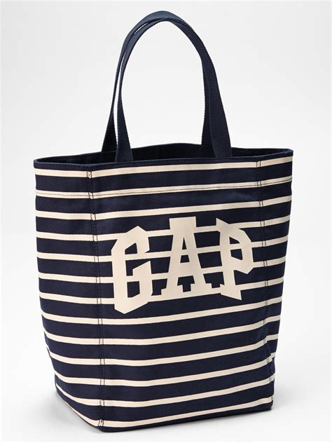Gap Productred Canvas Tote by Gap Logo Stripe Canvas Tote In Blue Lyst