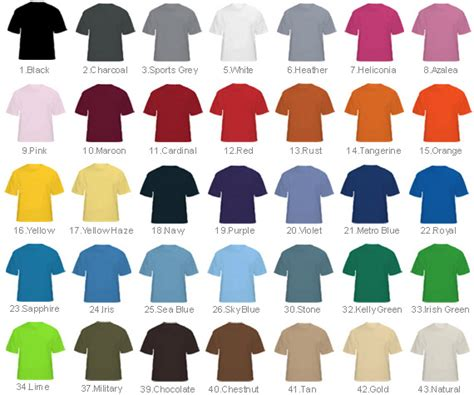Color Tshirt thailand t shirt colors jpg 570 215 475 pixels ss t shirts