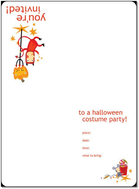 8 free halloween party invitations templates word pdf pub