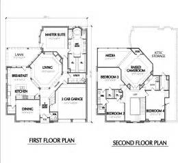 Two Story Floor Plan Two Story Home Plan E1022