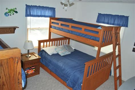 bedroom with two beds bedroom bunk beds one has double bed home building plans 79041