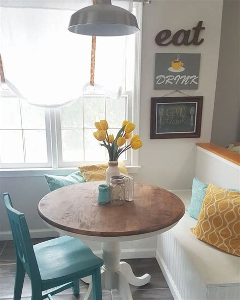 teal and yellow kitchen grey yellow teal modern kitchen and diy breakfast nook