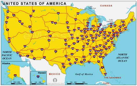 map of the united states roads highways image gallery highway map