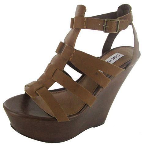 Steve Madden 10 by Steve Madden Womens Winslet Wedge Sandal Shoe Cognac Leather Us 10 Ebay