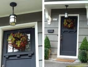 Jeff Lewis Designs black craftsman style front door new house ideas