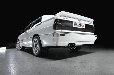 audi stockist audi ur quattro performance exhaust system by milltek classic