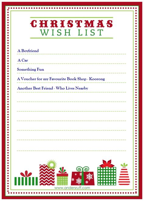 images of christmas wish list christmas list maker printable