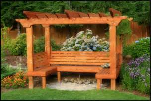 Garden Arbor With Bench The Look Of This Go Outside