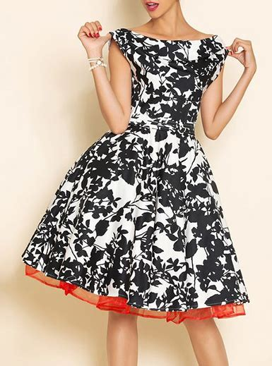 Black And White Vintage Dress vintage style dress black and white petticoat
