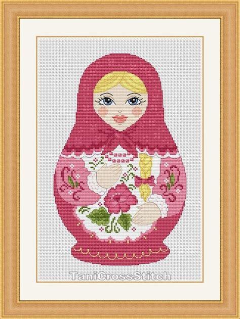 matryoshka pattern pinterest cross stitch pattern russian doll matryoshka от