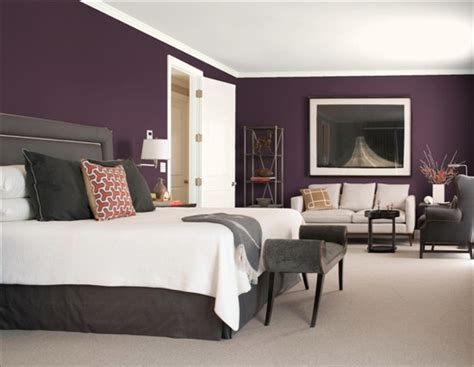 plum colors for bedroom walls purple gray 8 gorgeous bedroom color schemes