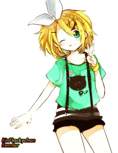 rin kagamine render by rinflakychan on deviantart - Len Xal