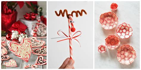 christmas decorations to make at home for free 25 candy cane crafts diy decorations with candy canes