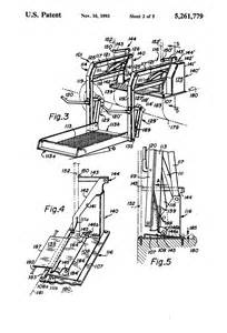 patent us5261779 dual hydraulic parallelogram arm wheelchair lift patents