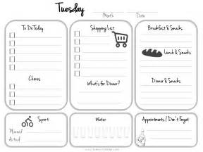 pocket schedule template daily planner template