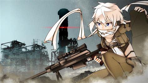 anime wallpaper hd gun sword art online gun gale online asada shino anime