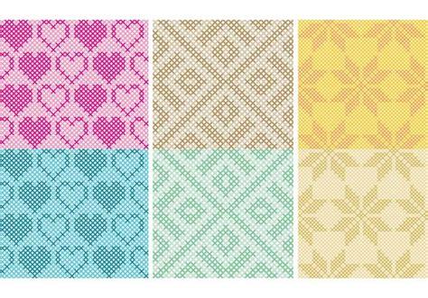 ornament cross stitch cross stitch pattern vectors free vector