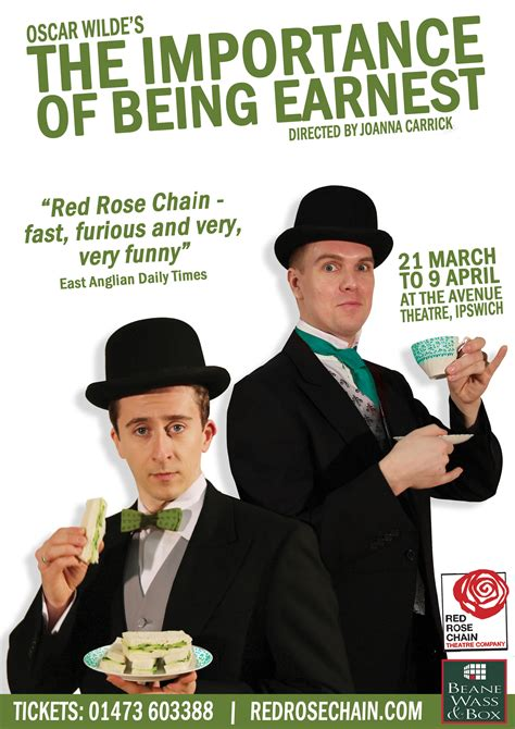 the importance of being red rose chain the importance of being earnest
