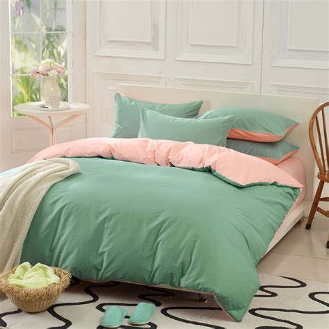 plain colored comforters piece bedding set 100 cotton solid color plain cotton