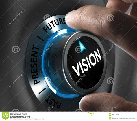 visio n company or corporate vision concept stock illustration