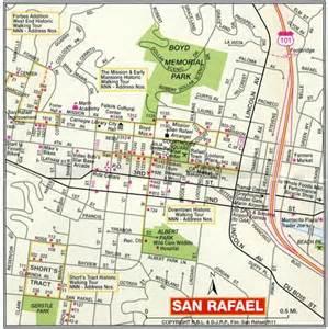 where is san rafael california on the map san rafael