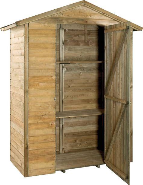 armoire bois jardin grande armoire de jardin en bois