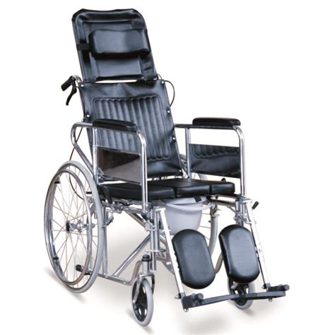 wheelchair with commode seat reclining commode wheelchair