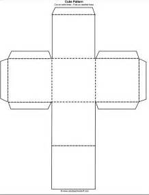 How To Make A Cube Template by Printable Cube Pattern Or Template A To Z Stuff
