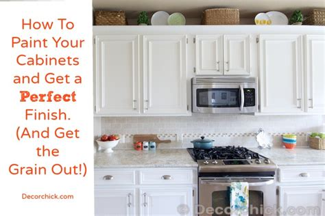 How to paint your cabinets like the pros and get the grain out
