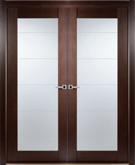 interior double doors  frosted glass designs