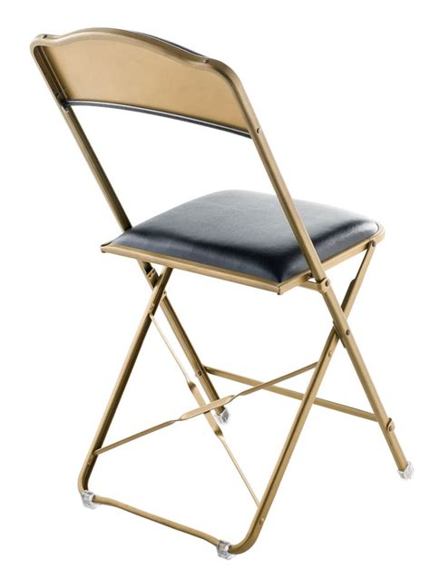 stylish folding chairs fritz style folding chair with gold frame folding chairs