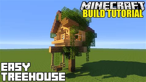 minecraft how to build a treehouse tutorial simple - How To Make A Cool Treehouse In Minecraft