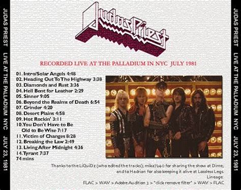 judaspriest news roio 187 blog archive 187 judas priest new york 1981
