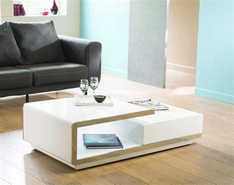 table basse design delta blanche