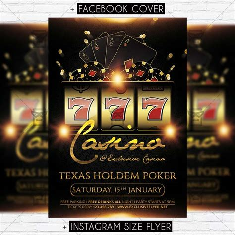 casino premium flyer template exclsiveflyer free and