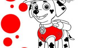 paw patrol paw patrol marshall colouring pages for