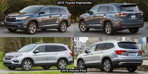 Toyota Highlander Vs Honda Pilot Benim Otomobilim 2015 Toyota Highlander Vs 2016 Honda