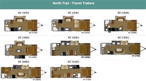 north trail lightweight travel trailers by heartland