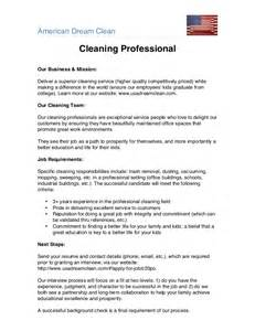 american dream clean cleaning professional job description